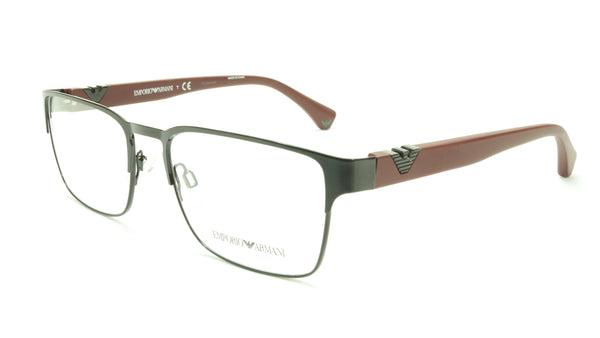 Emporio Armani EA1027 3014 Eyeglasses Frame Acetate Black Dark Red - Frame Bay