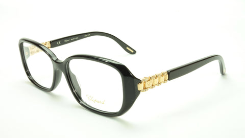 Chopard Eyeglasses Frame VCH 155S 0700 Acetate Black Gold Italy Made 53-15-135 - Frame Bay