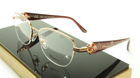 Chopard Eyeglasses Frame VCH A93G 08FC Acetate Gold Plated Italy Made 53-17-140 - Frame Bay