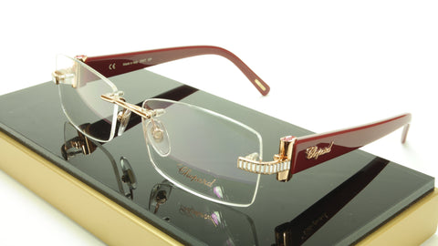 Chopard Eyeglasses Frame VCH 912S 08FC Acetate Gold Plated Italy Made 54-16-140 - Frame Bay