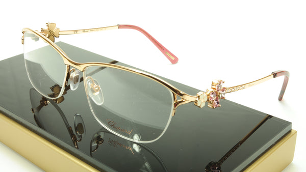 Chopard Eyeglasses Frame VCHA69S 08FC Gold Shiny Copper Italy Made 55-15-130 - Frame Bay