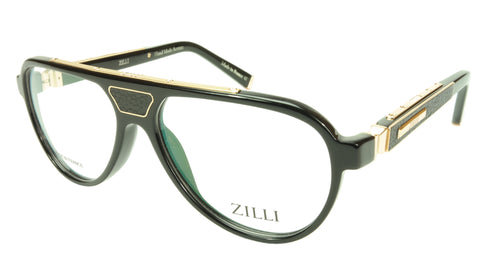 ZILLI Eyeglasses Frame Acetate Leather Titanium France Hand Made ZI 60000 C03