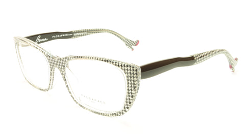 Face A Face Bocca Sexy 2 Col AT17 Houndstooth Black Red Eyeglasses Made in Italy - Frame Bay