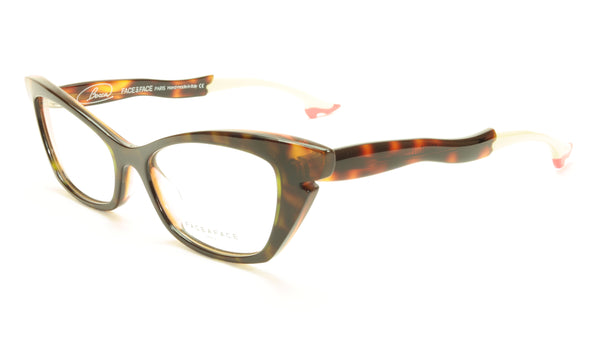 Face A Face Bocca Sixties1 Col 461 Dark Tortoise Pink Eyeglasses Italy - Frame Bay
