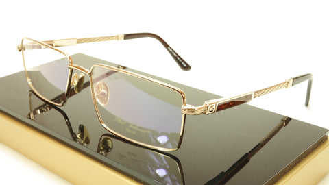 Paul Vosheront PV368 C1 23KT Gold Plated Eyeglasses Frame Italy Made - Frame Bay