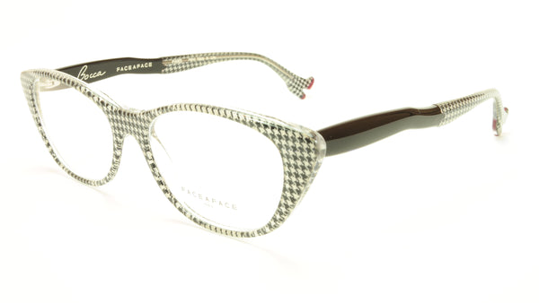Face A Face Bocca Sexy 1 Col AT17 Houndstooth Black Red Eyeglasses - Frame Bay