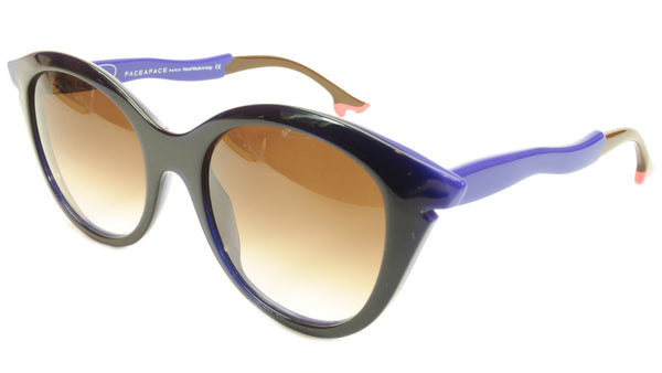 Face A Face Bocca Sixties 3 2146 Sunglasses Ink Majorelle Blue Italy Hand Made - Frame Bay