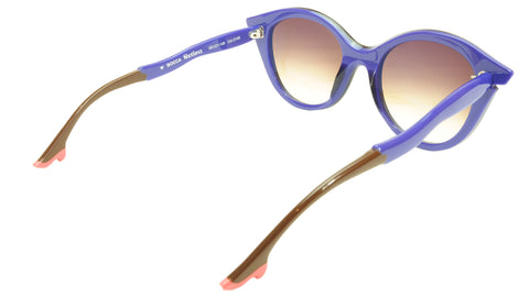 Image of Face A Face Bocca Sixties 3 2146 Sunglasses Ink Majorelle Blue Italy Hand Made