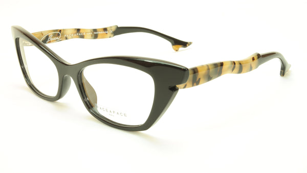 Face A Face Bocca Sixties 1 Col 896 Black Safari Eyeglasses Authentic 53-16-146 - Frame Bay