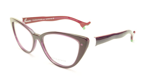 Face A Face Bocca Lova 4 Col. 5015 Purple White Eyeglasses Italy Made 55-16-142 - Frame Bay