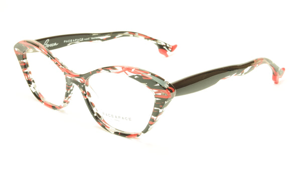 Face A Face Bocca Tatoo 3 Col. 3024 Lines and Red Light Eyeglasses Italy Made - Frame Bay