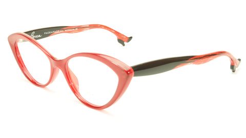 Face A Face Bocca Tatoo 1 Col. 2016 Red Flashy Red Eyeglasses Italy Hand Made - Frame Bay
