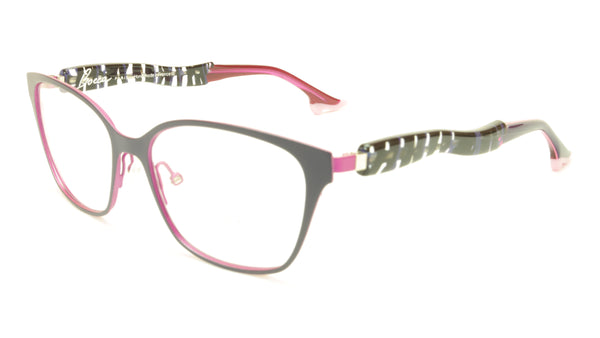 Face A Face Bocca City 4 Col. 9488 Purple Pink Eyeglasses Italy Made 54-16-142 - Frame Bay