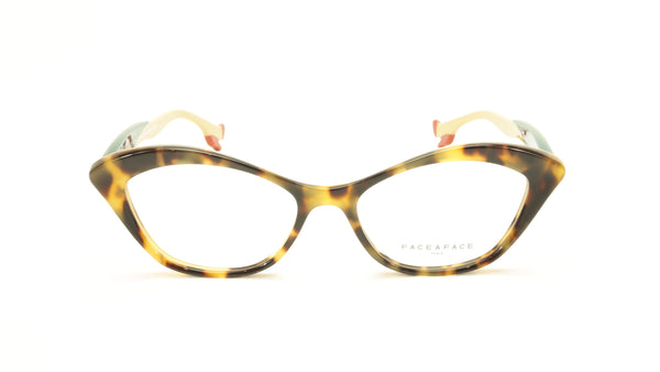 Face A Face Bocca Tatoo 3 Col. 2120 Yellow Camouflage Eyeglasses Italy Hand Made - Frame Bay
