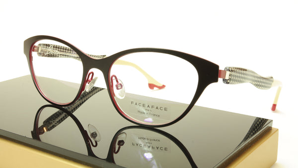 Face A Face Bocca City 3 Col. 9417 Black Red Eyeglasses France Made 52-17-142 - Frame Bay