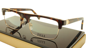 ZILLI Eyeglasses Frame Acetate Titanium Brown Gold France Made ZI 60005 C02 161