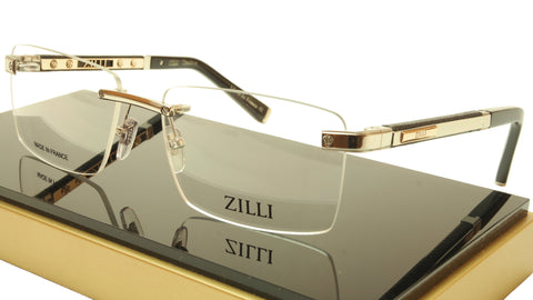 ZILLI Eyeglasses Frame Acetate Leather Titanium France Hand Made ZI 60012 C02