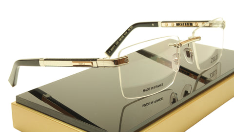 Image of ZILLI Eyeglasses Frame Acetate Leather Titanium France Hand Made ZI 60012 C02