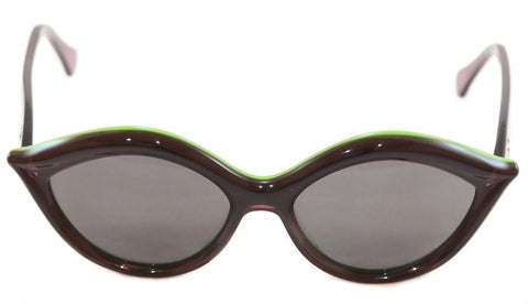 Image of Face A Face Sunglasses Senso 2 2038 Black Green Plastic Italy Hand Made Rare