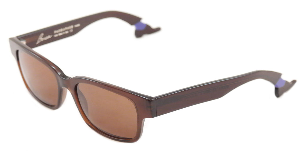 Face A Face Sunglasses Bocca Smoking 2 Chestnut Brown Plastic Italy Hand Made