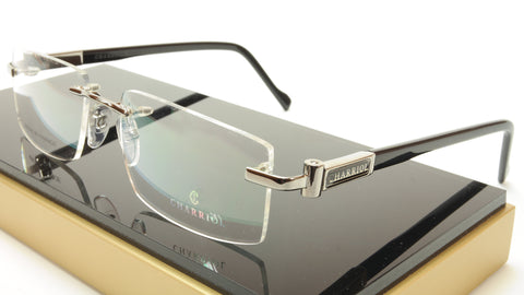 Charriol Eyeglasses Frame PC7372A C2 Rimless Gunmetal France Made 54-18-140 - Frame Bay
