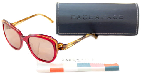 Face A Face Sunglasses Paris Brune 1 608 Pink Tan Plastic Italy Hand Made - Frame Bay
