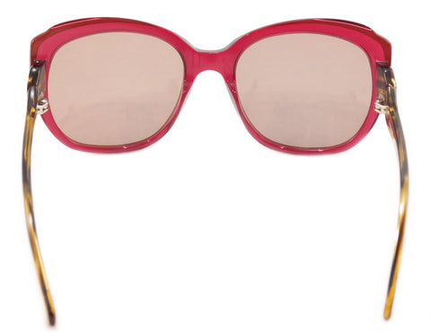 Image of Face A Face Sunglasses Paris Brune 1 608 Pink Tan Plastic Italy Hand Made