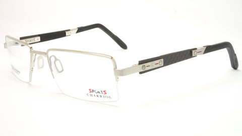 Charriol Eyeglasses Frame SP23003 C3 Sports Carbon Chrome Black France Made - Frame Bay