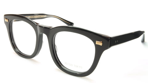 35/139 Tokyo KURO 111-0008 Eyeglasses Frame Shiny Black 49-23-145 Made in Japan - Frame Bay