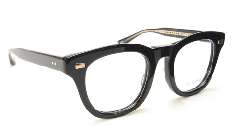 35/139 Tokyo KURO 111-0008 Eyeglasses Frame Shiny Black 49-23-145 Made in Japan