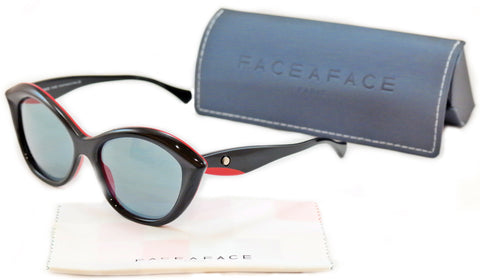 Face A Face SENSO 1 2015 Sunglasses Black Red Plastic Italy Hand Made Rare Frame