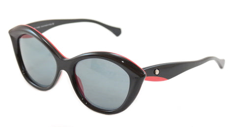 Image of Face A Face SENSO 1 2015 Sunglasses Black Red Plastic Italy Hand Made Rare Frame