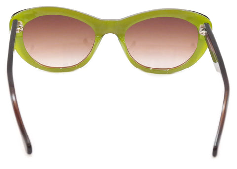 Image of Face A Face FIFTY 2 679 Sunglasses Brown Green Plastic Italy Hand Made Frame