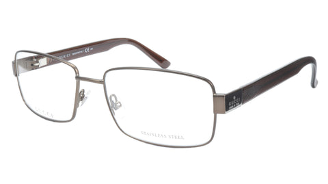 Gucci Eyeglasses Frame GG 1942 RQ5 Brown Metal Acetate Italy Made 55-17-135, 35 - Frame Bay