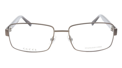 Image of Gucci Eyeglasses Frame GG 1942 RQ5 Brown Metal Acetate Italy Made 55-17-135, 35
