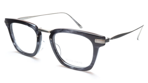35/139 Tokyo SUMI 107-0006A Eyeglasses Frame Black Crystal Chrome 49-23-145 Japan Made - Frame Bay