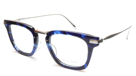 35/139 Tokyo AI 107-0006A Handcrafted Eyeglasses Frame Crystal Blue Chrome 49-23-145 Japan - Frame Bay