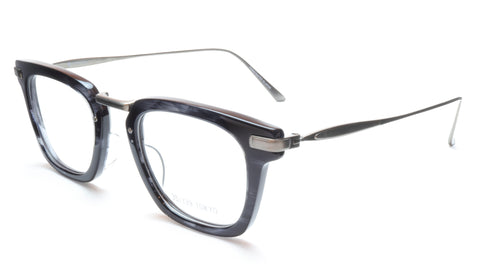 35/139 Tokyo SUMI 107-0006A Eyeglasses Frame Black Crystal Chrome 49-23-145 Japan Made
