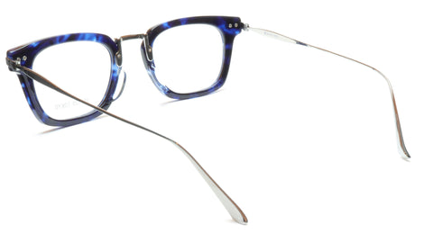 Image of 35/139 Tokyo AI 107-0006A Handcrafted Eyeglasses Frame Crystal Blue Chrome 49-23-145 Japan