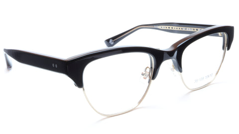 35/139 Tokyo KURO 107-0004 Eyeglasses Frame Black Gold 51-22-145 Made in Japan