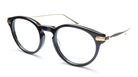 35/139 Tokyo KURO 107-0001 Eyeglasses Frame Black Gold 48-21-145 Japan Made - Frame Bay