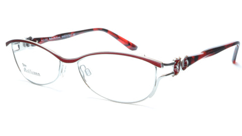 John Galliano Eyeglasses Frame JG5007 066 Metal Silver Red Italy Made 54-16-135