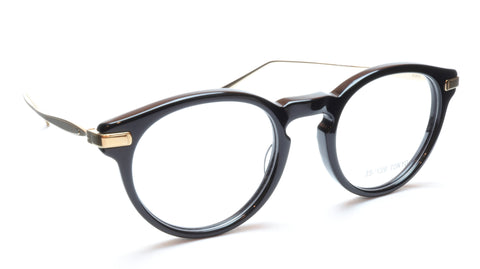 Image of 35/139 Tokyo KURO 107-0001 Eyeglasses Frame Black Gold 48-21-145 Japan Made