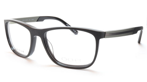 OGA Morel Eyeglasses Frame 77710 NG090 Acetate Black Grey France 54-17-140, 37 - Frame Bay
