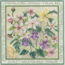 Bothy Threads Four Seasons - Spring Cross Stitch Kit