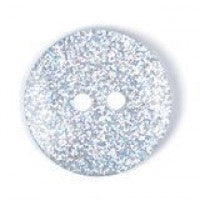 Clear Glitter Button 18mm