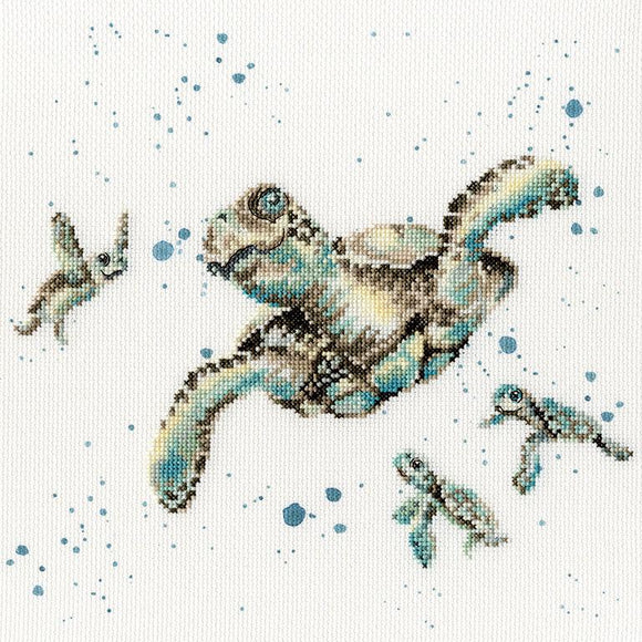 'Swimming School' Cross Stitch