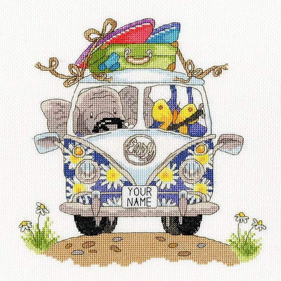 'Elly pack your Trunk' Cross Stitch-XEL3