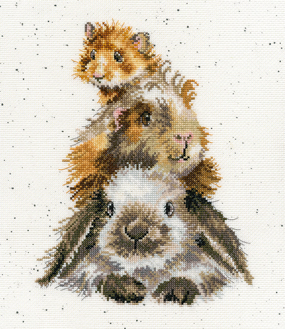 Wrendale 'Piggy In The Middle' Cross Stitch Kit