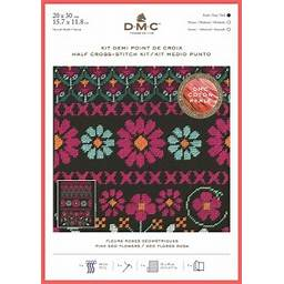 DMC Pink Geo Flower Cross Stitch Kit